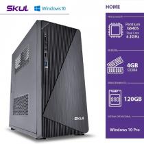 COMPUTADOR HOME H200 - PENTIUM DUAL CORE G6405 4.10GHZ MEM 4GB DDR4 SSD 120GB HDMI/VGA FONTE 300W WINDOWS 10 PRO - 1