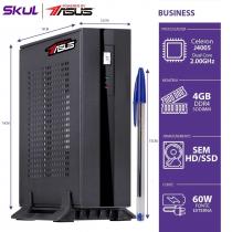 MINI COMPUTADOR BUSINESS B100 POWERED BY ASUS-CELERON DUAL CORE J4005 2.0GHZ 4GB DDR4 SEM HD/SSD 1X SERIAL FONTE EXT.60W - 1
