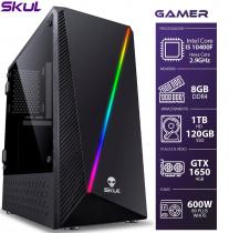 COMPUTADOR GAMER 5000 - I5 10400F 2.9GHZ 10ª GER. MEM. 8GB DDR4 SSD 120GB HD 1TB GTX 1650 4GB FONTE 600W WHITE - 1