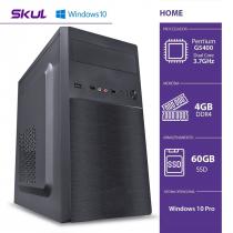 COMPUTADOR HOME H200 - PENTIUM DUAL CORE G5420 3.8GHZ MEM 4GB DDR4 SSD 60GB FONTE 200W WINDOWS 10 PRO - 1