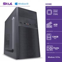 COMPUTADOR HOME H100 - CELERON DUAL CORE G5905 3.5GHZ 4GB DDR4 SSD 120GB HDMI/VGA FONTE 200W WINDOWS 10 PRO - 1