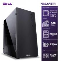 COMPUTADOR GAMER 3000 - I3 10100F 3.6GHZ 10ª GER. MEM. 8GB DDR4 SSD 240GB RX560 4GB FONTE 450W BRONZE - 1