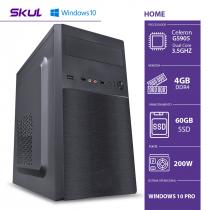 COMPUTADOR HOME H100 - CELERON DUAL CORE G5905 3.5GHZ MEM. 4GB DDR4 SSD 60GB HDMI/VGA FONTE 200W WINDOWS 10 PRO - 1