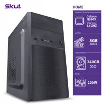 COMPUTADOR HOME H100 - CELERON DUAL CORE G5905 3.5GHZ MEM. 8GB DDR4 SSD 240GB FONTE 200W - 1