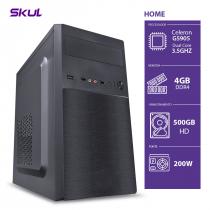 COMPUTADOR HOME H100 - CELERON DUAL CORE G5905 3.5GHZ MEM. 4GB DDR4 HD 500GB FONTE 200W - 1