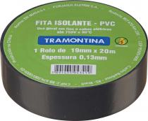 FITA ISOLANTE 20 METROS 0.13 X 19MM PRETA - 1