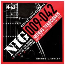 "ENCORDOAMENTO PARA GUITARRA .009 / .042"" TRADICIONAL N63 - 1"