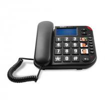 TELEFONE C/ FIO TOK FÁCIL ID PRETO TECLAS GRANDES 4000073 - 1