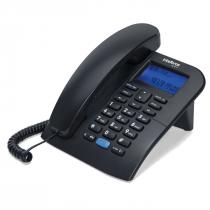 TELEFONE COM FIO E IDENTIFICADOR DE CHAMADAS TC 60 ID PRETO 4000074 - 1