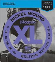 ENCORDOAMENTO PARA GUITARRA - EXL115 6 CORDAS BLUES / JAZZ / ROCK .011-.049 - CORDA MI EXTRA - 1