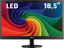"MONITOR LED AOC 18,5"" 1366X768(HD) 5MS 60HZ VGA E970SWNL WIDESCREEN - 1"