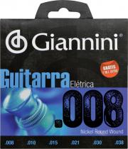 ENCORDOAMENTO PARA GUITARRA ELÉTRICA GEEGST 8 - .008-.038 - 1