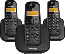 TELEFONE SEM FIO COM IDENTIFICADOR DE CHAMADAS + 2 RAMAIS TS3113 PRETO - 1