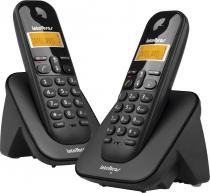 TELEFONE SEM FIO C/ IDENTIFICADOR DE CHAMADAS + RAMAL TS3112 PRETO 4123102 - 1