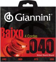 ENCORDOAMENTO PARA CONTRA BAIXO ELÉTRICO 4 CORDAS GEEBRL - .040-.095 - 1