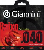 ENCORDOAMENTO PARA CONTRA BAIXO ELÉTRICO 5 CORDAS GEEBRL 5 - .040-.125 - 1
