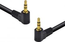 CABO DE ÁUDIO P2 X P2 (3.5 STEREO) 1.5 METROS 2 CONECTORES DE 90 GRAUS - 35SA90-15