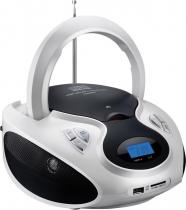 RÁDIO BOOMBOX 20W RMS CD/USB/SD/FM/AUX BRANCA E PRETA SP181