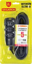EXTENSÃO CABO PP 3X0,75 5 METROS PRETA 87 - 1
