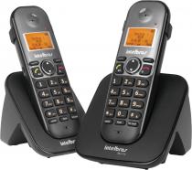 TELEFONE SEM FIO + RAMAL ID COM ENTRADA PARA FONE DE OUVIDO TS 5122 PRETO - 1