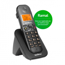 RAMAL TELEFONE S/ FIO TS 5121 PRETO 4125121 - 1