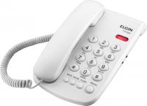 TELEFONE COM FIO TCF 2000 B - CHAVE DE BLOQUEIO - INDICAÇÃO LUMINOSA DE CHAMADA - COR BRANCO