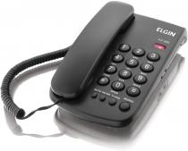 TELEFONE COM FIO - CHAVE DE BLOQUEIO - INDICAÇÃO LUMINOSA DE CHAMADA - TCF 2000 PRETO