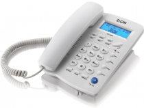 TELEFONE COM FIO INDENTIFICADOR DE CHAMADAS AGENDA PARA 12 NÚMEROS TCF 3000 CINZA CLARO