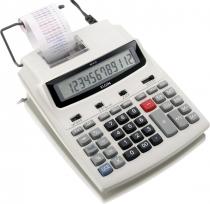 CALCULADORA COM BOBINA 12 DIGITOS, IMPRESSÃO BICOLOR E DISPLAY LCD MR-6125 BRANCA - 1