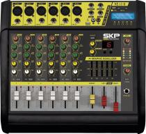 MESA DE SOM AMPLIFICADA 6 CANAIS 400W COM MP3, ENTRADA USB , COM EFEITOS VZ-60A II - 1