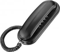 TELEFONE GÔNDOLA TCF 1000 PRETO COMPATÍVEL COM CENTRAIS PÚBLICAS E PABX - FUNÇÃO FLASH E REDIAL