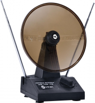 ANTENA DIGITAL COM PARÁBOLA PARA TV - VHF UHF FM DIGITAL/ANALÓGICA