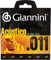 ENCORDOAMENTO PARA VIOLAO AÇO ACUSTICO .011 BRONZE - GESPW - 1