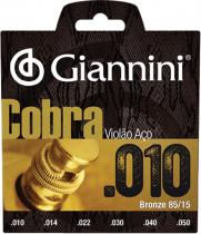 ENCORDOAMENTO PARA VIOLAO ACO COBRA BRONZE .010 - GEEFLE