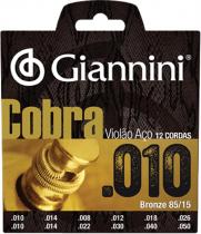 ENCORDOAMENTO PARA VIOLAO 12 CORDAS ACO COBRA BRONZE - GEEF12M - 1