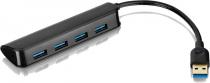 HUB USB SLIM 3.0 4 PORTAS PRETO AC289