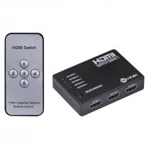 SWITCH HDMI 5 ENTRADAS 1 SAIDA 1.3V COM SUPORTE 3D E 1080P - SWH5-1