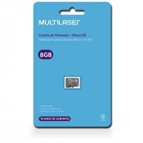 CARTAO DE MEMORIA MICRO SD 8GB CLASSE 4 MC141