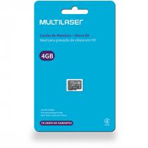 CARTÃO DE MEMÓRIA MICRO SD 4GB CLASSE 4 MC144 - 1