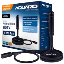 ANTENA DIGITAL HDTV 4 EM 1 VHF/UHF/FM/HDTV USO INTERNO OU EXTERNO COM CABO 5 METROS DTV-150 - 1