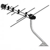 ANTENA LOG 4X1 VHF/UHF/FM/HDTV PROHD-3630/01 COM MASTRO E CABO DE 12 METROS - 1