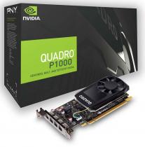 PLACA DE VIDEO NVIDIA QUADRO P1000 4GB GDDR5 128 BITS 4 MINI DISPLAY PORT VCQP1000V2-PB - SUPORTA ATÉ 4 MONITORES/TV - 1