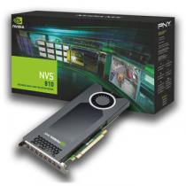 PLACA DE VIDEO NVIDIA QUADRO NVS 810 4GB DDR3 128 BITS 8 MINI DISPLAY PORT VCNVS810DVI-PB - SUPORTA ATÉ 8 MONITORES/TV - 1