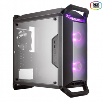 GABINETE MASTERBOX Q300P 2 FANS RGB - CONTROLADOR E SPLITTER - PAINEL LATERAL ACRÍLICO TRANSPARENTE - MCB-Q300P-KANN-S02