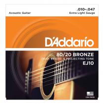 ENCORDOAMENTO PARA VIOLÃO AÇO EJ10-B 80/20 BRONZE - 1
