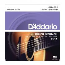 ENCORDOAMENTO PARA VIOLÃO AÇO EJ13-B 80/20 BRONZE - 1