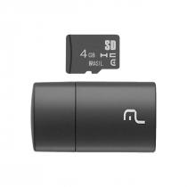CARTÃO MICRO SD 4GB COM LEITOR USB CLASSE 4 MC160
