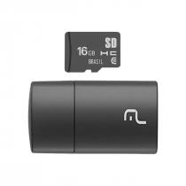 CARTÃO MICRO SD 16GB COM LEITOR USB CLASSE 4 MC162 - 1