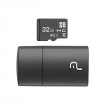 CARTÃO MICRO SD 32GB COM LEITOR USB CLASSE 4 MC163 - 1