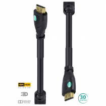 CABO HDMI 2.0 4K ULTRA HD 3D CONEXÃO ETHERNET COM FILTRO 30 METROS - H20F-30